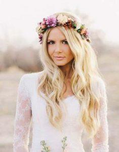 Cintas de pelo con flores para novias