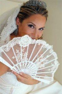 tipos de abanicos de novia