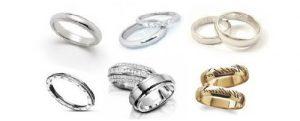 tipos de anillos para novios