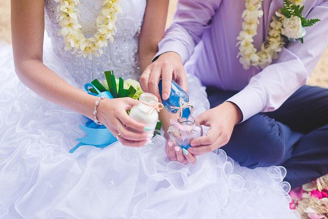 Ritual de la arena en las bodas civiles