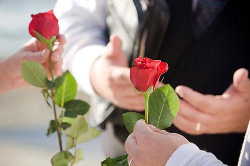 Ritual de la rosa en la Boda Civil