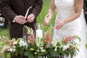 Ritual de las velas en las bodas